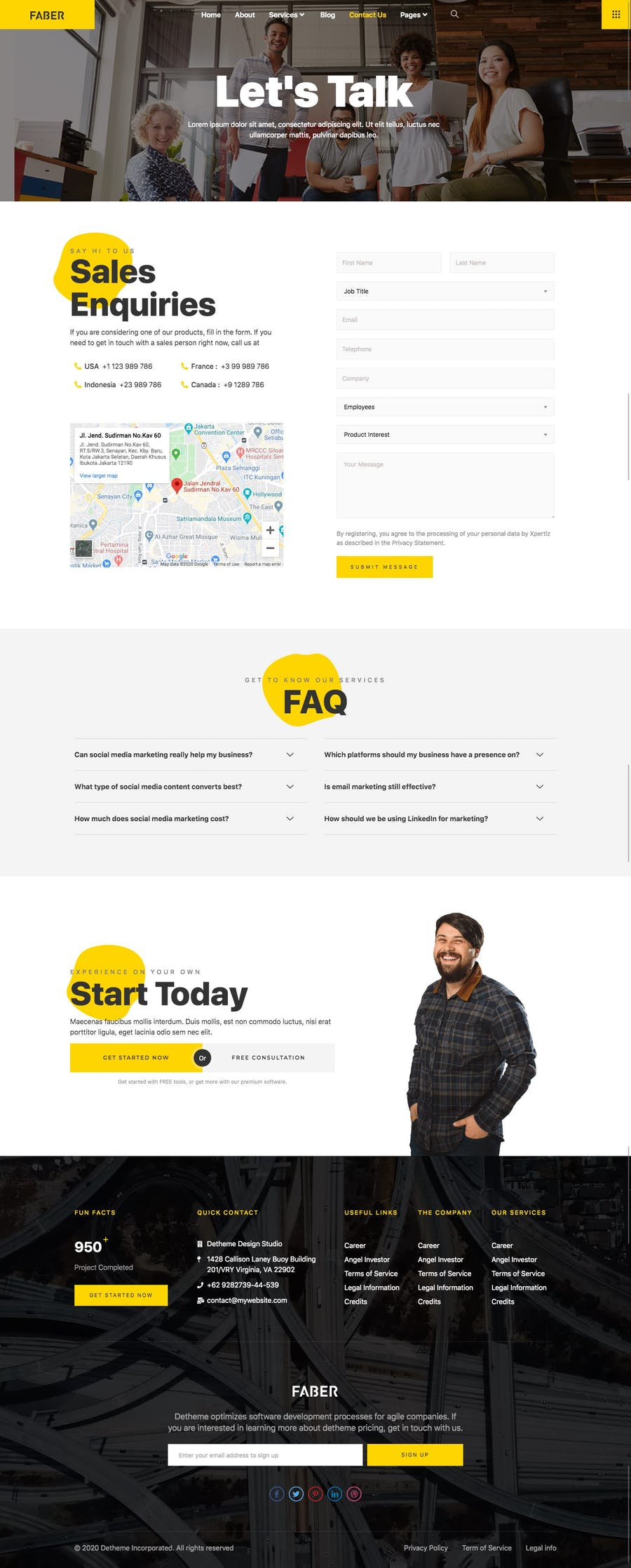 Faber - Template Kits For Tech Company - 3