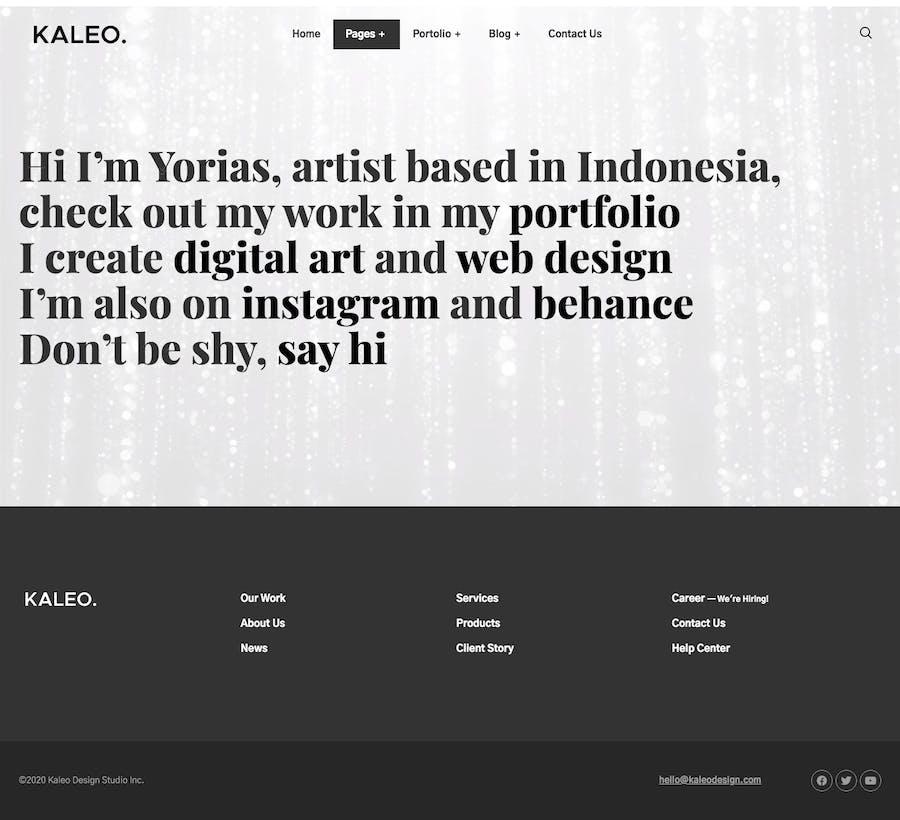 Kaleo - Creative Portfolio Template Kit - 1