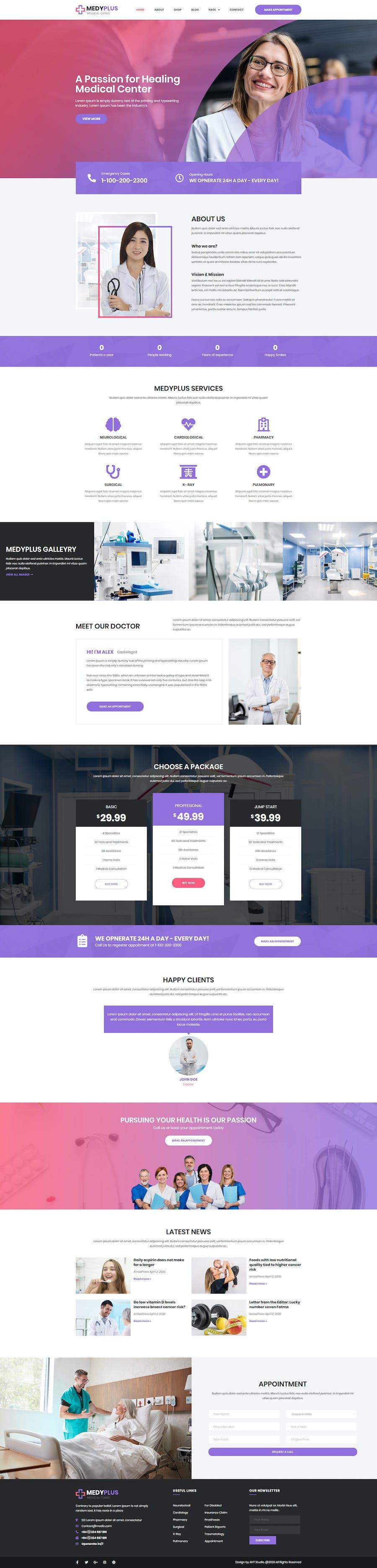 Medyplus - Medical, Clinic Template Kit - 1