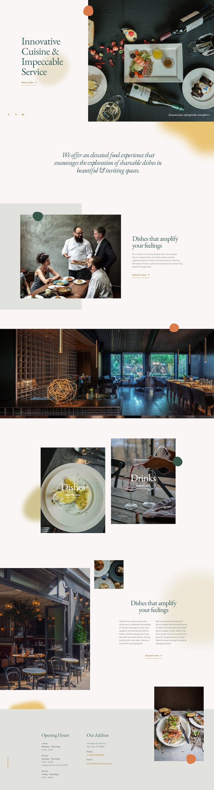 The Restaurant - Elementor Template Kit - 1