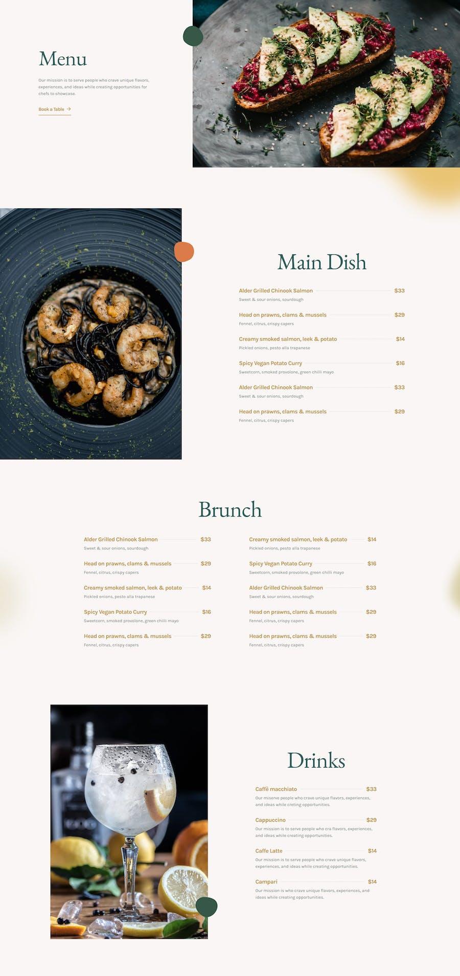 The Restaurant - Elementor Template Kit - 3