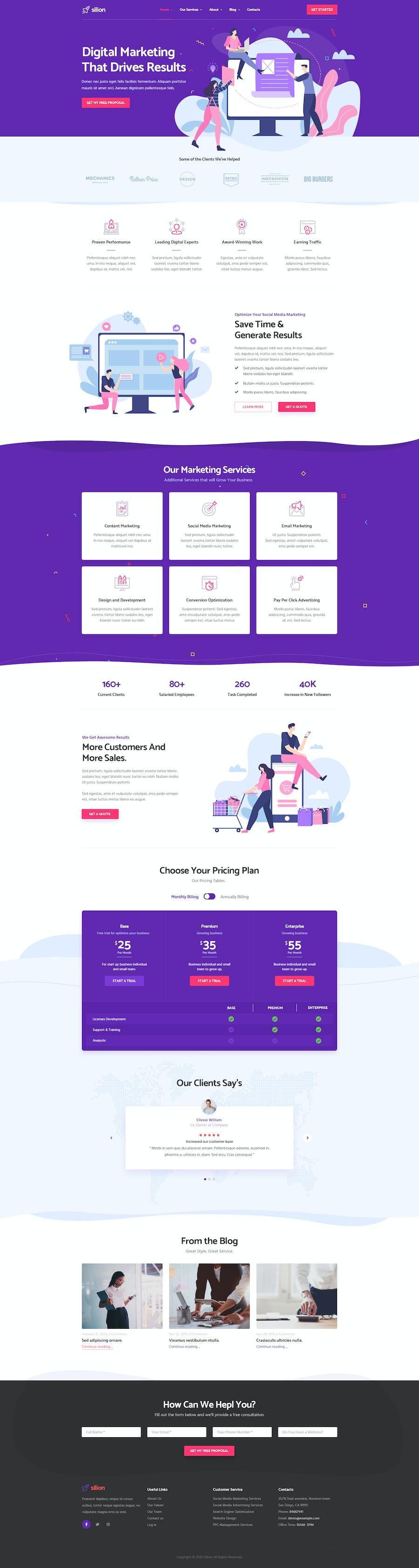 Silion - Digital Marketing Elementor Template Kit - 0